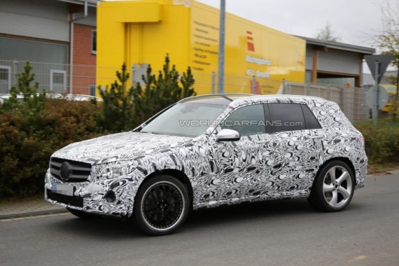 Mercedes-Benz GLC 63 AMG Returns on Spy Images