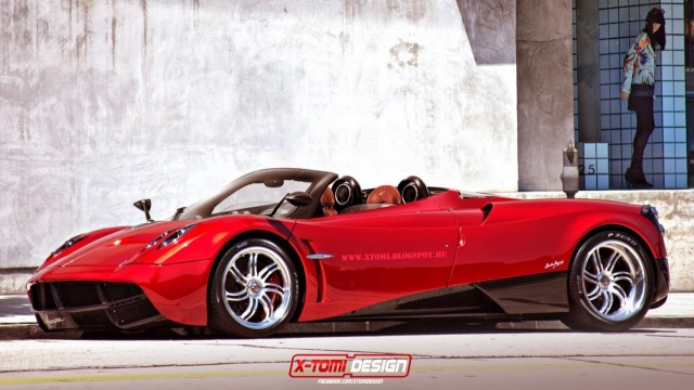 Pagani Huayra Roadster Rendering Hints on the Future Models