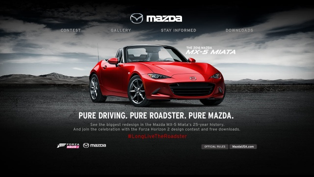 Mazda, Xbox will Launch MX-5 Styling Competition of 2016