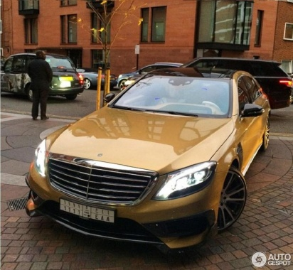 Mercedes-Benz S63 AMG tuned Brabus was caught in the capital o England
