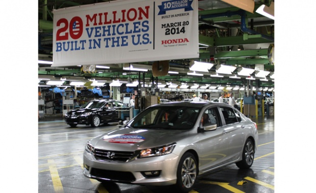 20 Million Vehicles Built at American Site of Honda