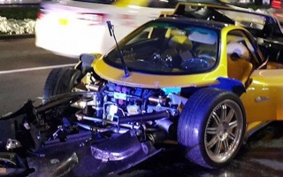 Pagani Zonda F Has Crashed in Dubai