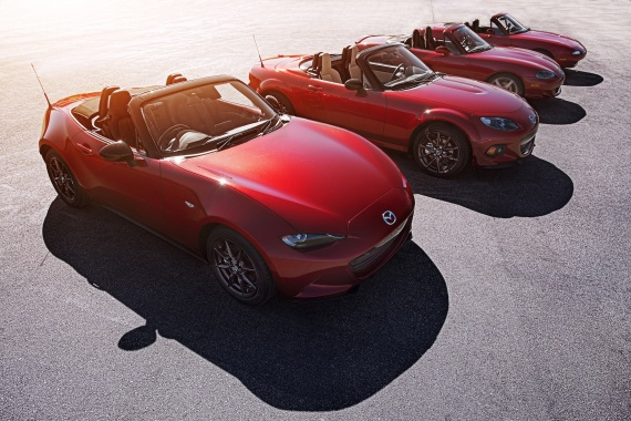 2016 MX-5 from Mazda costs $24,950