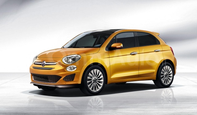 Rendering of 500 Five-Door Hatchback from Fiat