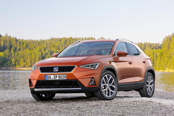 Rendering of SEAT Ibiza-Based Crossover before 2017