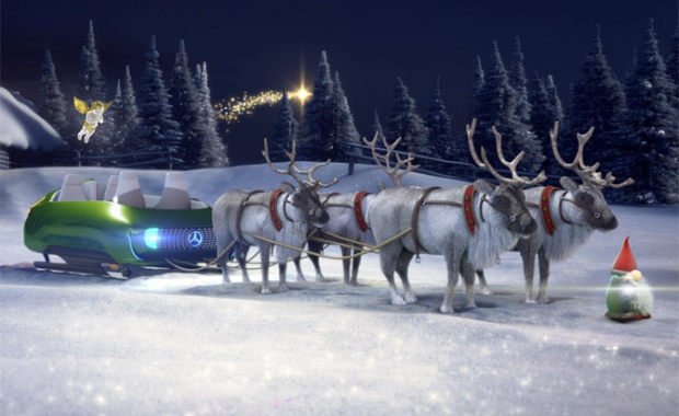 A Santa-Class Christmas Sleigh from Mercedes