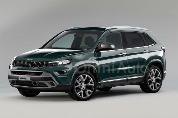 Rendering of 2017 Jeep compact SUV
