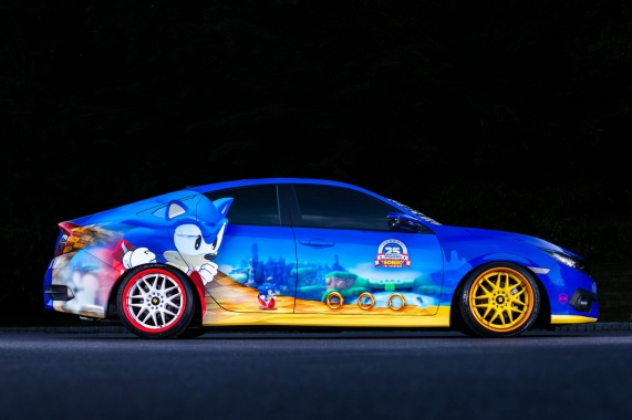 'Sonic Civic' from Honda for Hedgehog's 25th Birthday