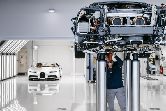 Check Out the Fancy Bugatti Chiron Factory