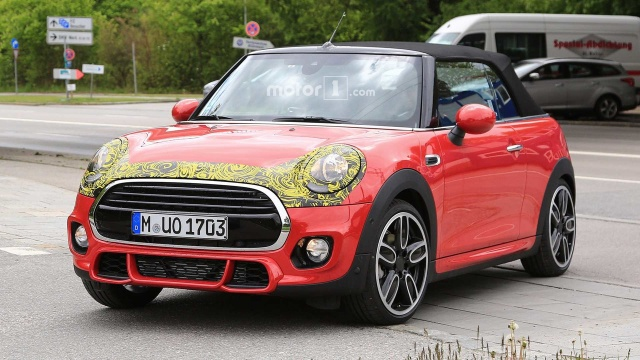 Paparazzi Caught Mini Convertible And Cooper S Hiding A Light Facelift