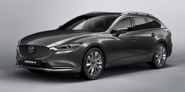 The Mazda 6 Wagon goes to in the footsteps of the renewed sedan