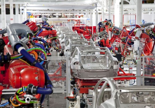 The production of Tesla Model 3 stopped