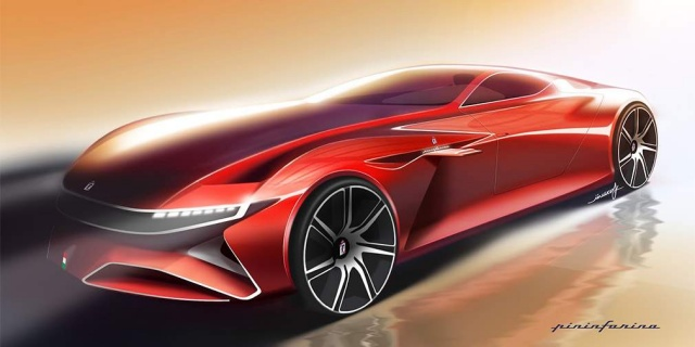 Pininfarina showed the first picture of an electric hypercar