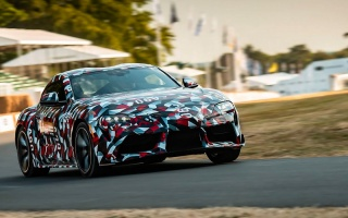First video from the races of revived Toyota Supra