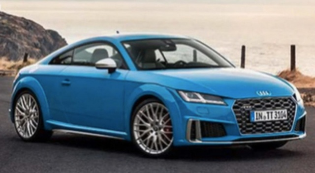 Declassified the restyling Audi TT coupe