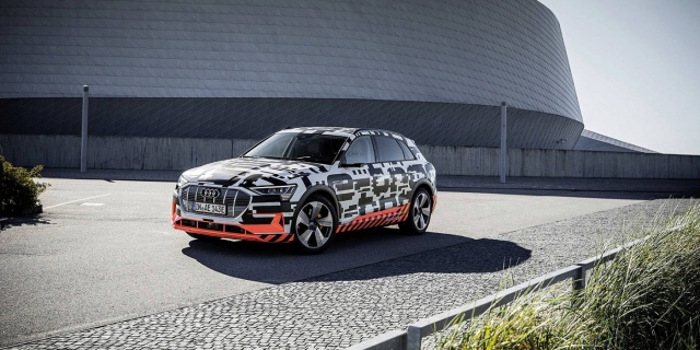 Audi first electric crossover received own debut date