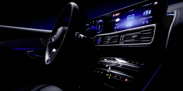 Mercedes-Benz showed the EQS electric crossover interior