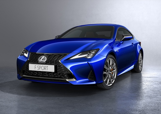 The two-door Lexus RC is closer to the flagship Lexus LC coupe