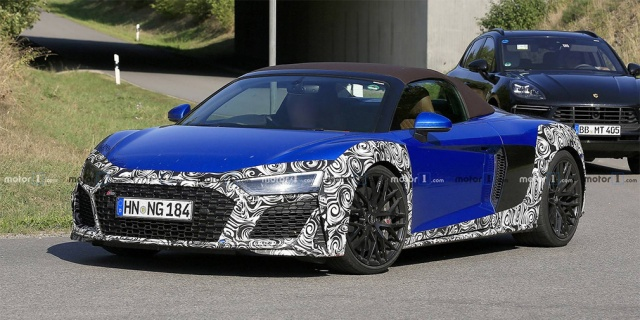 Audi tests now a new R8 Spyder supercar