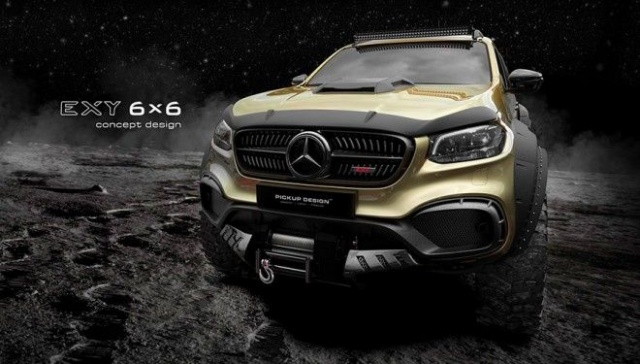Mercedes-Benz X-Class will get a six-wheel modification