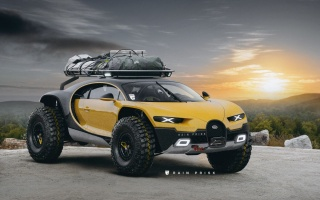 Bugatti Chiron has become an extreme all-terrain vehicle