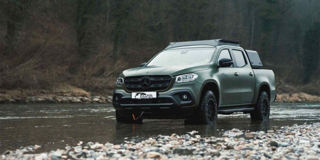 Gruma created an Mercedes X-Class hunting car