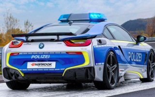 BMW i8 hybrid became a patrol car