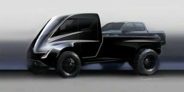Tesla pick-up on electricity gate a premiere date. Maybe