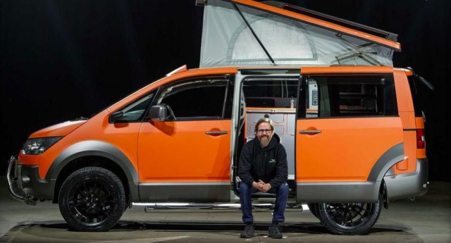 Mitsubishi minivan turned into a real home