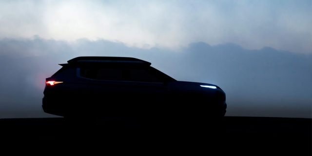 Mitsubishi's newest SUV shown on the photo