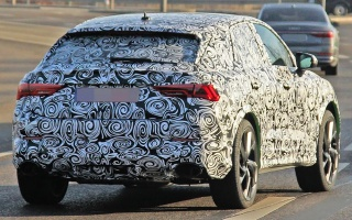 Audi Q4 coupe-crossover testing with a 400-horsepower engine