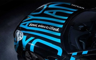 Porsche's electric car appeared in the photos