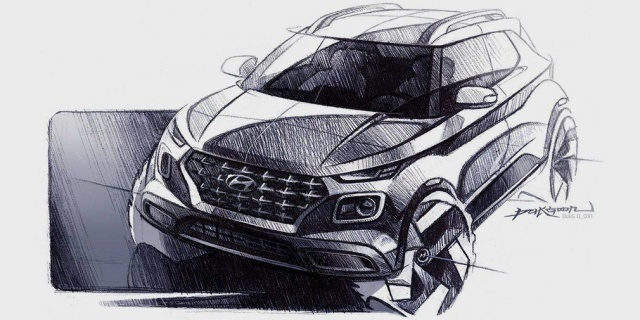 Hyundai Venue: how the new miniature SUV will look like