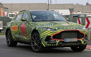Aston Martin testing first serial crossover on the Nurburgring