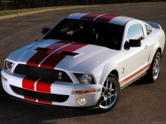 ford mustang shelby gt500 red stripe pic #43428
